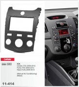 Переходная рамка Carav 11-414 KIA Cerato (TD), Forte (TD), Naza Forte 2009-2012 (Manual Air-Conditioning) (Black), 2-DIN