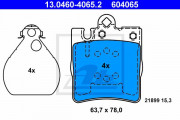 Тормозные колодки ATE 13.0460-4065.2