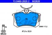 Тормозные колодки ATE 13.0460-2820.2