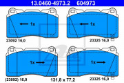 Тормозные колодки ATE 13.0460-4973.2