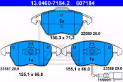 Тормозные колодки ATE 13.0460-7184.2