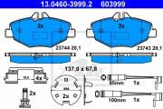 Тормозные колодки ATE 13.0460-3999.2