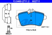 Тормозные колодки ATE 13.0460-2711.2