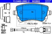 Тормозные колодки ATE 13.0460-2882.2