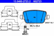 Гальмівні колодки ATE 13.0460-2723.2