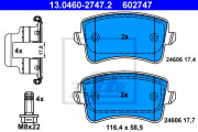 Тормозные колодки ATE 13.0460-2747.2