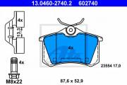 Тормозные колодки ATE 13.0460-2740.2