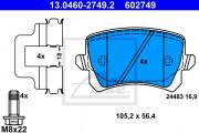 Тормозные колодки ATE 13.0460-2749.2
