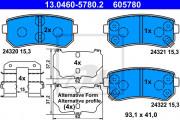 Тормозные колодки ATE 13.0460-5780.2