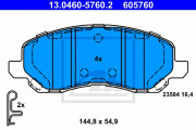 Тормозные колодки ATE 13.0460-5760.2
