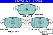Тормозные колодки ATE 13.0470-7184.2
