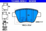 Тормозные колодки ATE 13.0460-3858.2