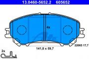 Тормозные колодки ATE 13.0460-5652.2