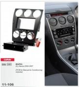 Переходная рамка Carav 11-106 Mazda (6), Atenza 2002-2007 w/pocket (PCB for Manual Air-Conditioning), 2/1 DIN