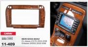 Carav Переходная рамка Carav 11-409 Mercedes-Benz CL-klasse (C215) 2002-2006, S-klasse (W220) 2002-2006 (Wooden), 2-DIN