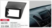 Переходная рамка Carav 11-156 Mitsubishi L 200, Triton 2006+, Pajero Sport II, Challenger 2008+, Pajero Dakar 2010+, 2-DIN