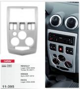 Carav Переходная рамка Carav 11-395 Renault Logan 2004-2009, Tondar 90 2007+ / Nissan Aprio 2007-2010 / Dacia Logan 2004-2008, 2-DIN
