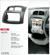 Переходная рамка Carav 11-270 Subaru Justy / Toyota Passo / Daihatsu Boon, Sirion / Perodua MyVi (I), 2-DIN