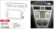 Переходная рамка Carav 11-164 Toyota Vios 2007-2012, Belta 2005-2008, Yaris Sedan 2006+ (Silver), 2-DIN
