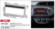 Переходная рамка Carav 11-243 Toyota Yaris 2011+ (Universal for Left and Right Wheel) w/pocket, 1-DIN