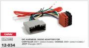 Переходник / адаптер ISO Carav 12-034 для Chrysler 2008+ / Dodge 2008+ / Jeep Wrangler 2007+