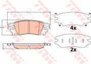 Тормозные колодки TRW GDB4459