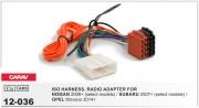 Переходник / адаптер ISO Carav 12-036 для Nissan 2007+ / Subaru Impreza 2007+