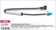 Антенный переходник Carav 13-018 для Audi / Mercedes / Seat / Skoda /Volkswagen / BMW / KIA / Opel / Citroen / Peugeot / Renault