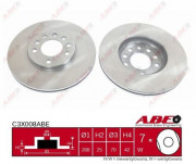 Тормозной диск ABE C3X008ABE