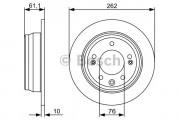 Тормозной диск BOSCH 0986479508