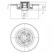 Тормозной диск DELPHI BG9026RS