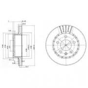 Тормозной диск DELPHI BG2384