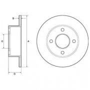 Тормозной диск DELPHI BG2343