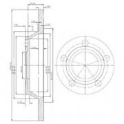 Тормозной диск DELPHI BG2987
