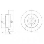Тормозной диск DELPHI BG3125