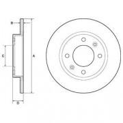 Тормозной диск DELPHI BG2572