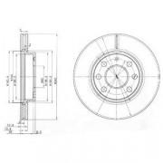 Тормозной диск DELPHI BG3568