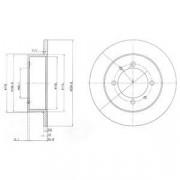 Тормозной диск DELPHI BG3609