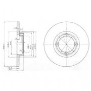 Тормозной диск DELPHI BG3551