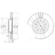Тормозной диск DELPHI BG3928