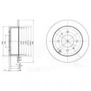 Гальмівний диск DELPHI BG4010