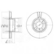 Тормозной диск DELPHI BG9005