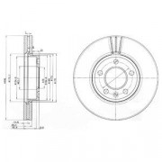 Гальмівний диск DELPHI BG9891