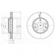 Гальмівний диск DELPHI BG4265