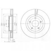 Тормозной диск DELPHI BG4109C