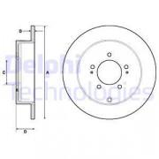 Тормозной диск DELPHI BG4161C