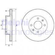 Гальмівний диск DELPHI BG3935C