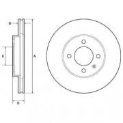 Тормозной диск DELPHI BG2455C