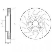 Тормозной диск DELPHI BG9189C