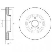 Тормозной диск DELPHI BG9218C